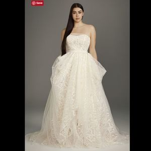 White VERA WANG Stencil Sequin Wedding Gown 14